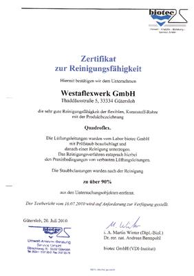 Kunststoff Bio-Zertifikat