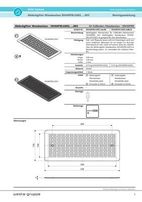 Abdeckgitter Fussboden/Wandauslass