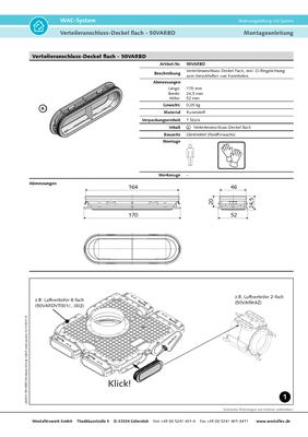 Verteileranschluss Deckel flach