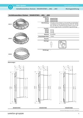 Verteileranschluss-Stutzen