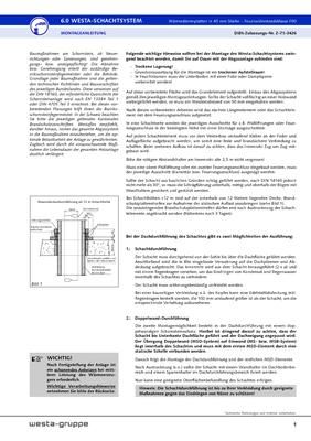 Montageanleitung Westa-Schachtsystem