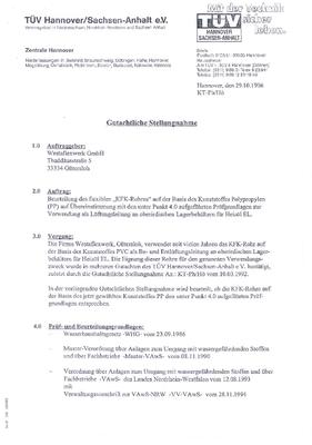 Zertifikat WesterKFK nach WHG